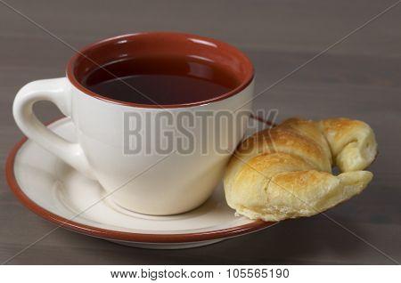 Fresh Croissant And Tea