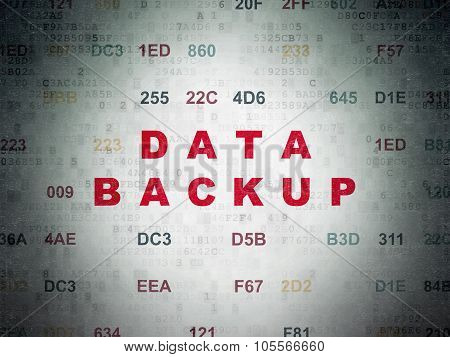 Information concept: Data Backup on Digital Paper background