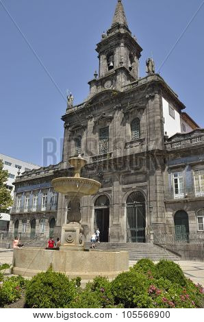 Trindade Church In Porto
