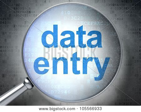Information concept: Data Entry with optical glass