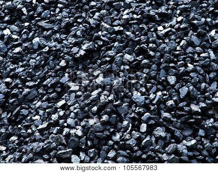 Frame full of coal.