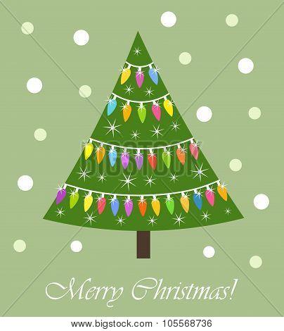 Christmas Tree Lights Card