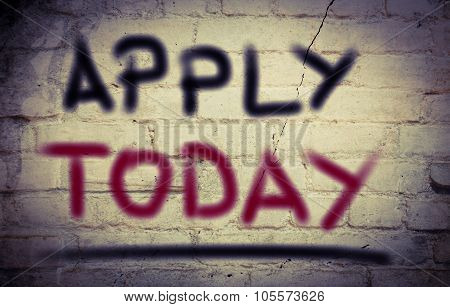 Apply Today Concept