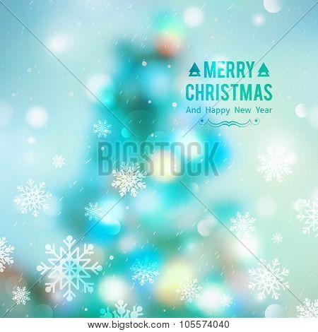 christmas tree blurred