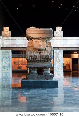 Interior Of The National Museum Of Anthropology In Mexico City