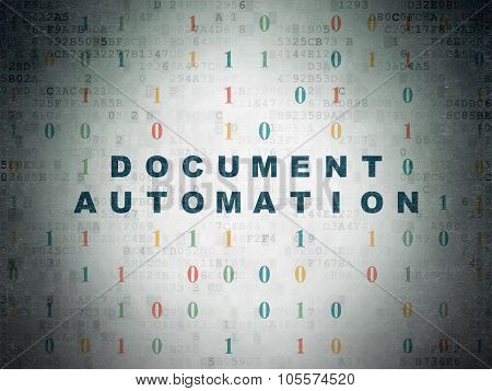 Business concept: Document Automation on Digital Paper background
