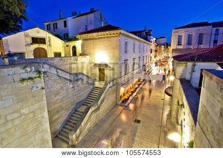 Historic Stone Street Of Zadar