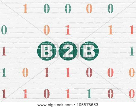 Finance concept: B2b on wall background