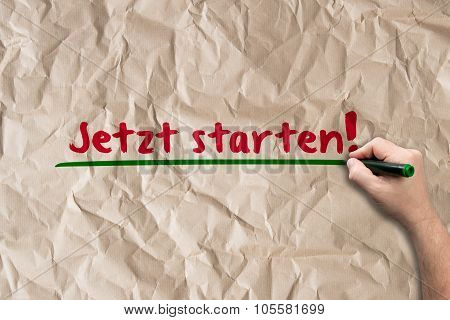 Start Now! - Concept On Paper