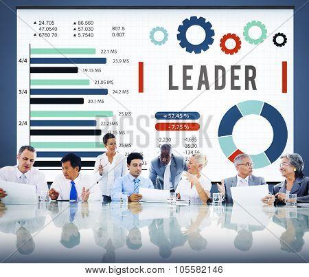 Leader Leadership Authority Coach Concept