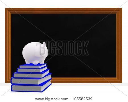Black Board Books And Savings Piggy Bank