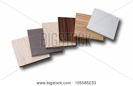 Different Chipboards Without Edge Band Isolated On White Background