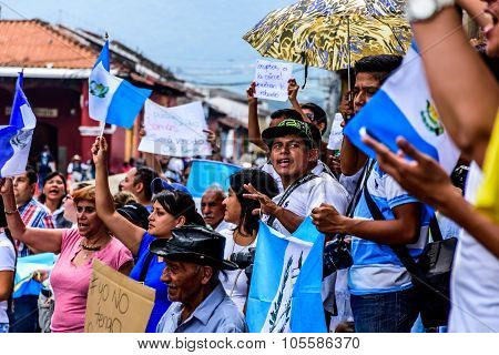 Political Protests, Antigua, Guatemala