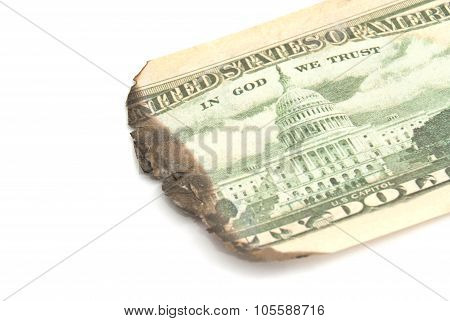 Burnt Dollar Banknote