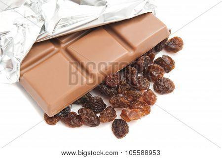 Chocolate Bar And Raisins