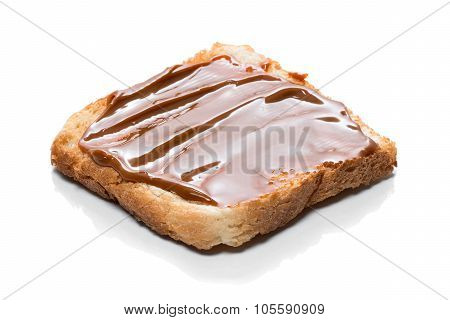 Toast With Caramel Cream