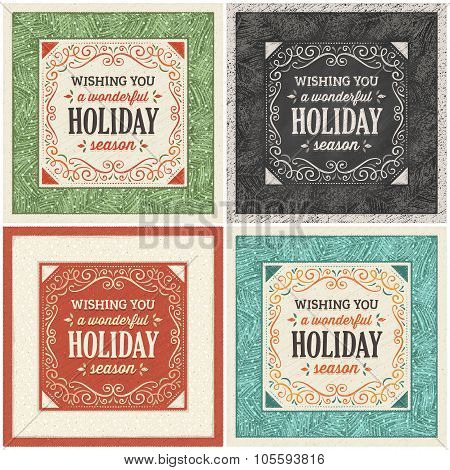 Christmas Card In Four Different Variations