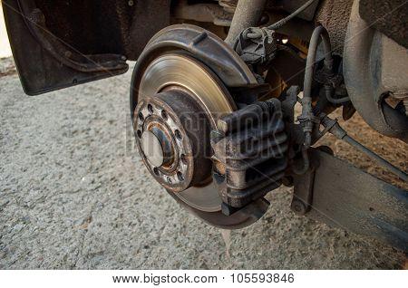 Car Brake Disk - Changing Wheel