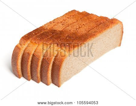 Loafs of bread isolated on white background