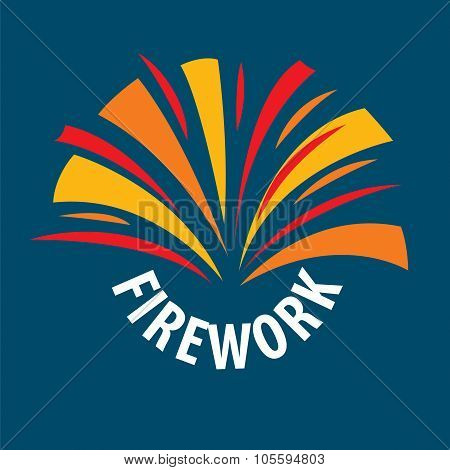 vector logo abstract multicolored fireworks