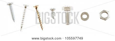 Loose parts on plain background