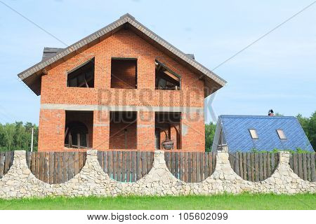 The image of stone houses