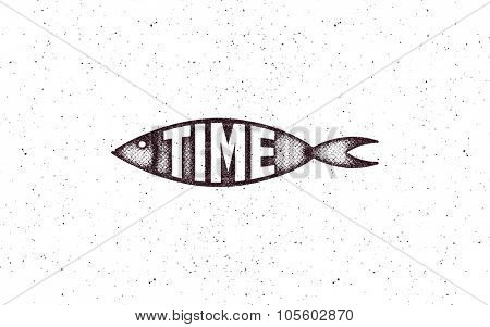 Fish. grunge style. Vector illustration