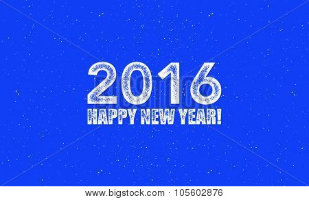 2016. Happy new year. Vector illustration