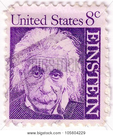 United States Of America - Circa 1965: A Stamp Printed In The United States Of America Shows Albert