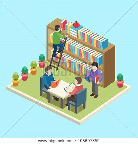 Study In The Library Concept