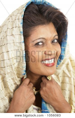 Traditional Indian Woman Portrait