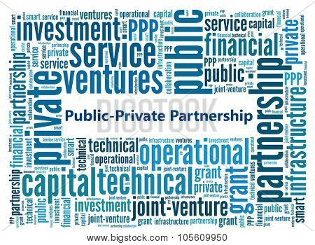 Public=Private Partnership in word collage