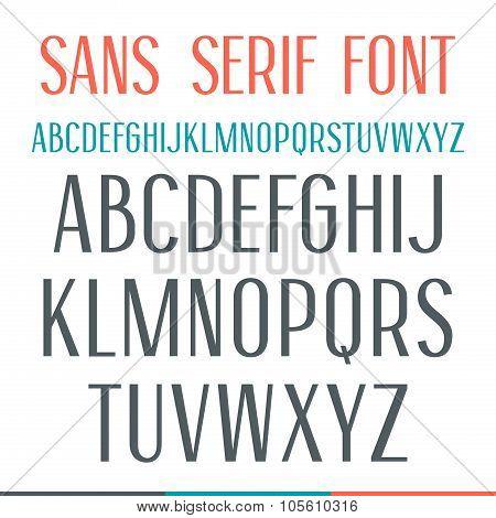 Sans Serif Narrow Font
