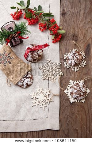 Chocolate - Truffle Cookies For Christmas