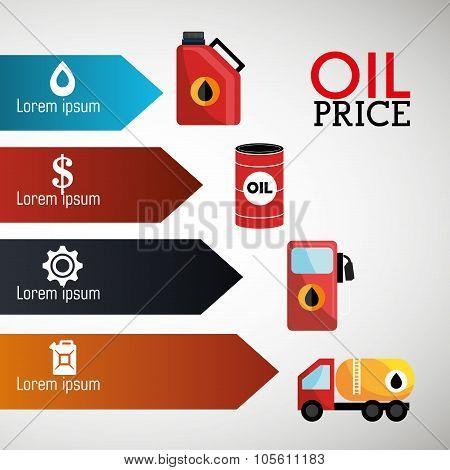 Oil prices infographic design
