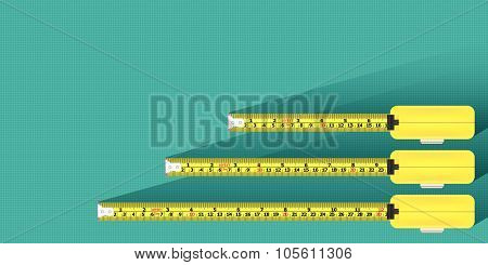 Measurement Tape Background Vector