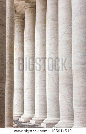 Bernini's colonnade in Piazza San Pietro (St Peter's Square) in Vatican, Rome, Italy