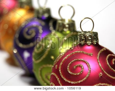 Multi Colored Christmas Baubles