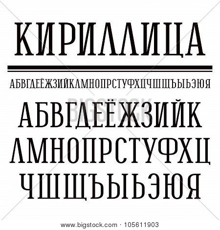 Serif Font In Newspaper Style