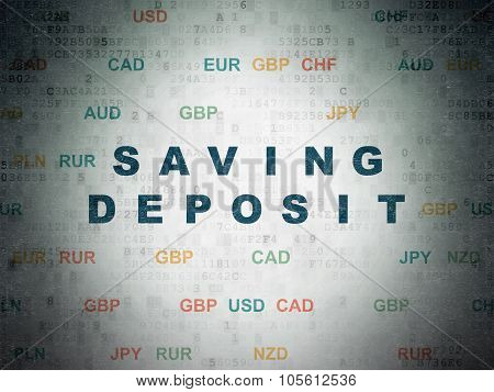 Currency concept: Saving Deposit on Digital Paper background
