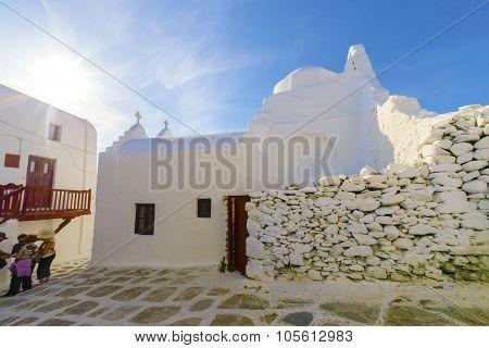 Church Of Panayia Paraportiani, Mykonos, Greece