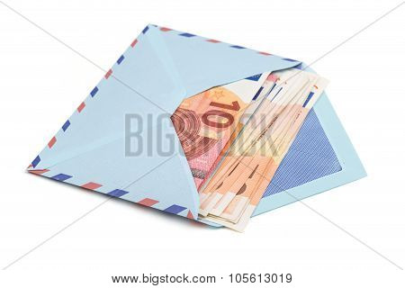 Airmail Envelope With A Money