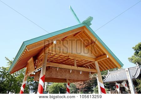 Japanese sumo wrestling house