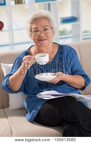 Drinking Morning Tea