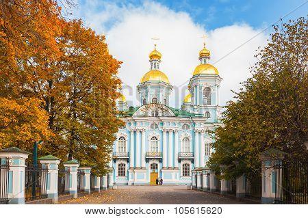 St. Nicholas Naval Cathedral In St. Petersburg
