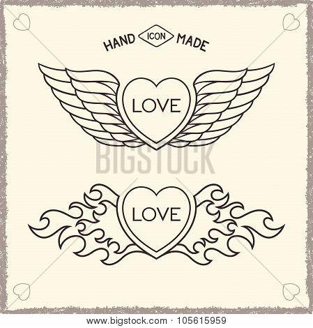 Love heraldic icons