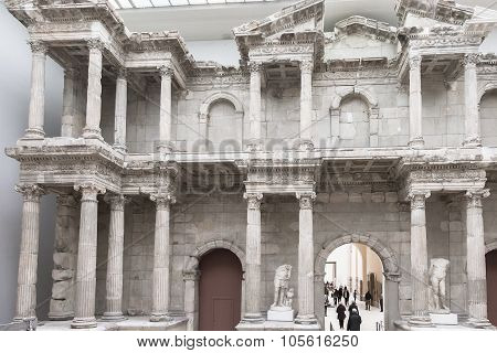 Market Gate Of Miletus Hall Of Pergamon Museum In Berlin
