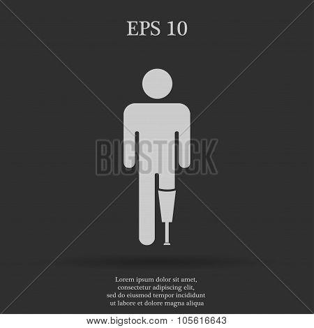 Prosthesis Icon  Flat Design Style