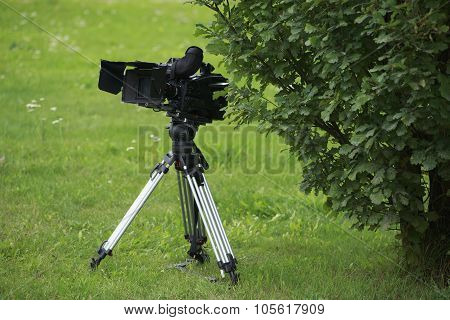 Camera At Nature Landscape