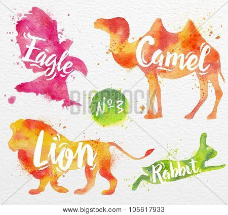 Painted animals camel
